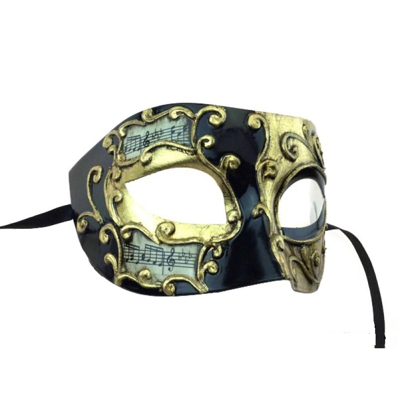 Antifaz Hombre Carnaval Veneciano M3157 Black